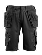 16049-230-09 Shorts met spijkerzakken - zwart