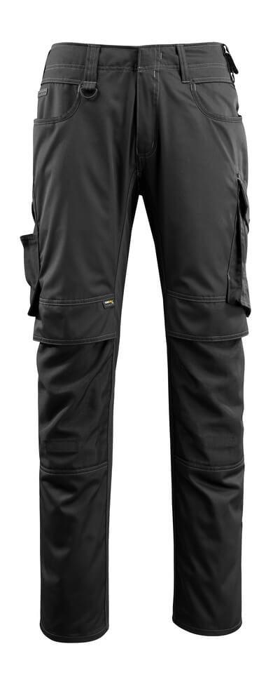 16079-230-09 Broek met kniezakken - zwart