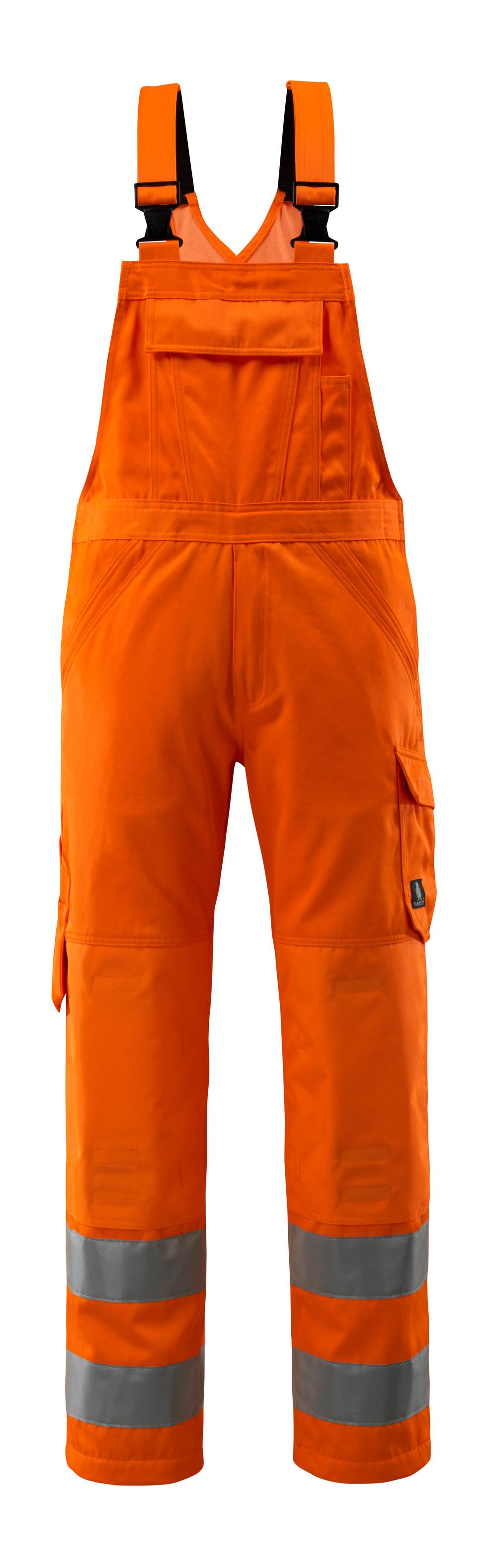 16869-860-14 Amerikaanse overall met kniezakken - hi-vis oranje
