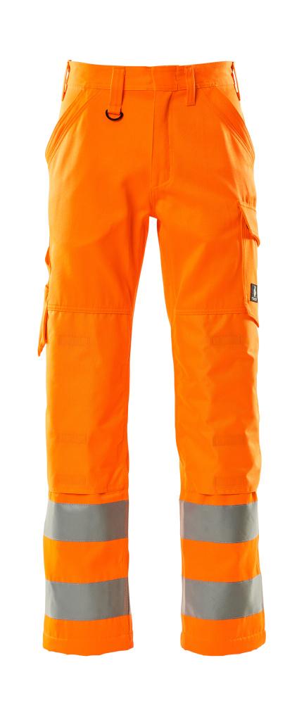 16879-860-14 Broek met kniezakken - hi-vis oranje