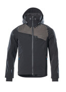 17001-411-0918 Shell jas - zwart/donkerantraciet