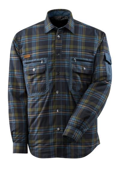 17004-991-01085 Overhemd met voering - donkermarine/ijsblauw