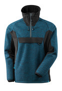 17005-309-01009 Gebreid jas met korte rits - donkermarine/zwart