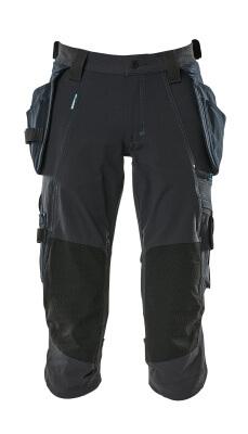17049-311-010 Driekwart broek met knie- en spijkerzakken - donkermarine