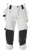 17049-311-06 Driekwart broek met knie- en spijkerzakken - wit