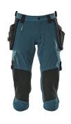 17049-311-44 Driekwart broek met knie- en spijkerzakken - donkerpetrol