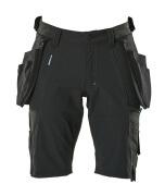 17149-311-09 Shorts met spijkerzakken - zwart