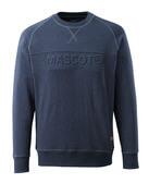 17184-830-66 Sweatshirt - gewassen donkerblauw denim