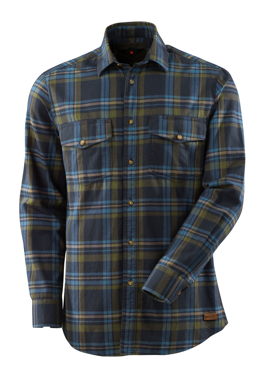 17204-991-01085 Overhemd - donkermarine/ijsblauw