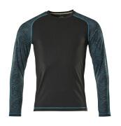 17281-944-09 T-shirt, met lange mouwen - zwart