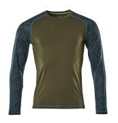 17281-944-33 T-shirt, met lange mouwen - mosgroen