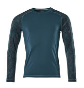 17281-944-44 T-shirt, met lange mouwen - donkerpetrol