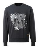 17284-280-73 Sweatshirt - zwart denim