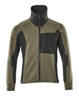 17484-319-09 Sweatshirt met rits - zwart