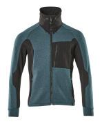 17484-319-4409 Sweatshirt met rits - donkerpetrol/zwart