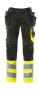 17531-860-0917 Broek met spijkerzakken - zwart/hi-vis geel