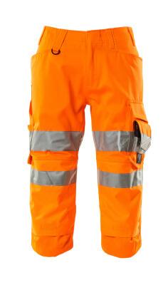 17549-860-14 Driekwart broek met kniezakken - hi-vis oranje