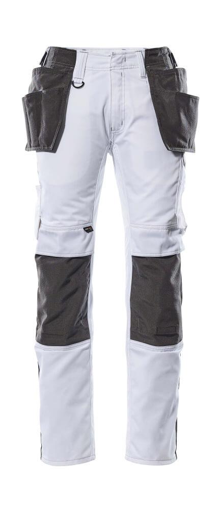 17631-442-0618 Broek met spijkerzakken - wit/donkerantraciet
