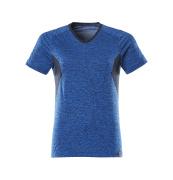 18092-801-91010 T-shirt - helder blauw-melêe/donkermarine