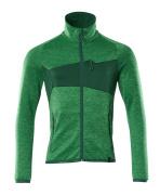 18103-316-33303 Fleecetrui met rits - helder groen/groen