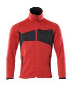 18105-951-20209 Gebreide trui met rits - signaalrood/zwart