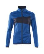 18153-316-91010 Fleecetrui met rits - helder blauw/donkermarine