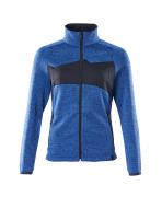 18155-951-91010 Gebreide trui met rits - helder blauw/donkermarine