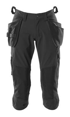18249 Driekwart broek met knie- en spijkerzakken