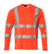 18281-995-222 T-shirt, met lange mouwen - hi-vis rood
