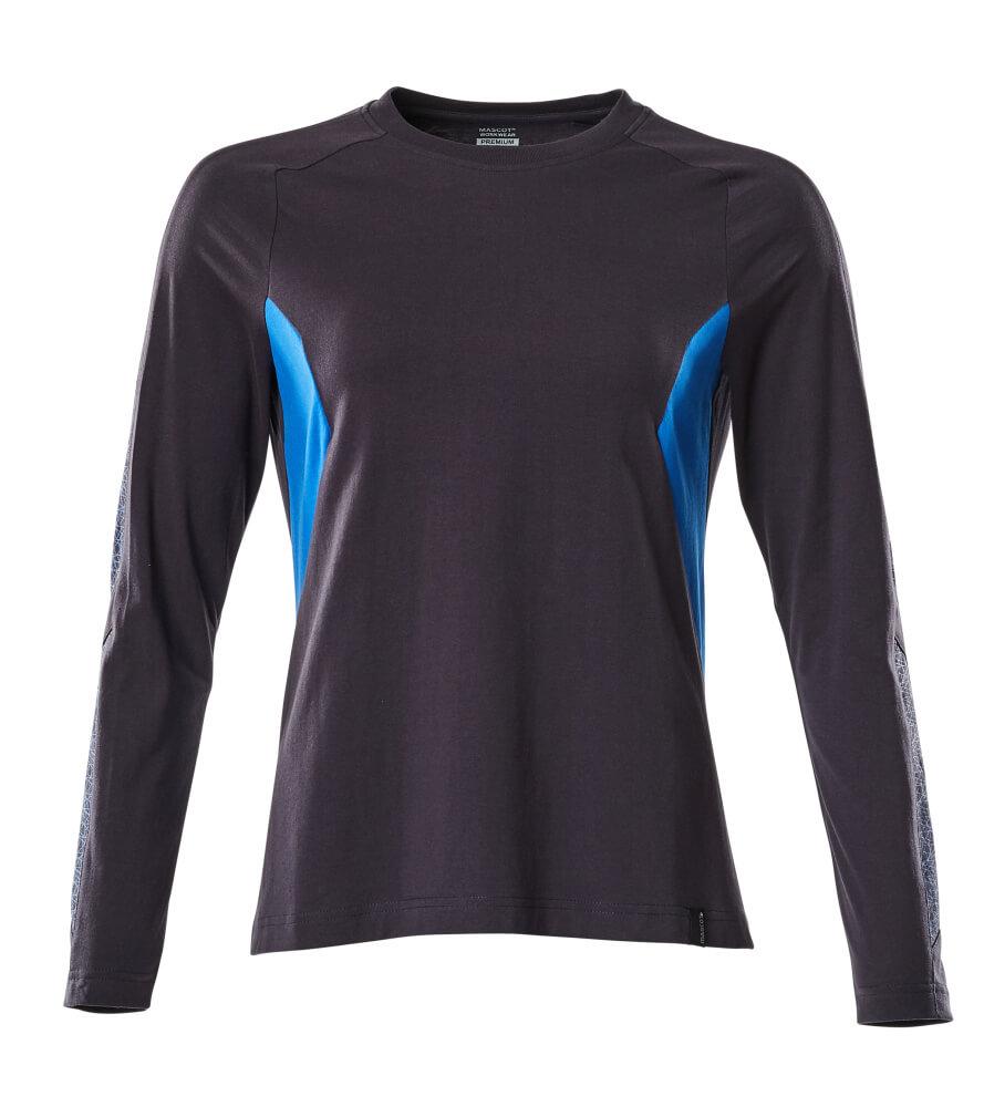 18391-959-01091 T-shirt, met lange mouwen - donkermarine/helder blauw