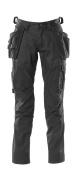 18531-442-09 Broek met knie- en spijkerzakken - zwart