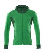 18584-962-33303 Capuchontrui met rits - helder groen/groen