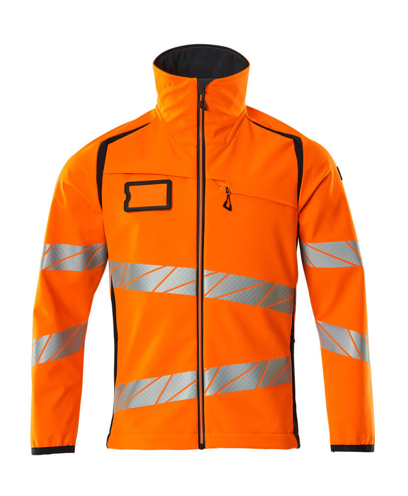 19002-143-14010 Softshell jas - hi-vis oranje/donkermarine