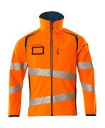 19002-143-1444 Softshell jas - hi-vis oranje/donkerpetrol