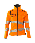 19012-143-14010 Softshell jas - hi-vis oranje/donkermarine