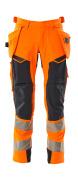 19031-711-14010 Broek met spijkerzakken - hi-vis oranje/donkermarine