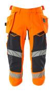 19049-711-14010 Driekwart broek met spijkerzakken - hi-vis oranje/donkermarine