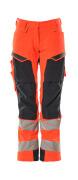 19078-511-14010 Broek met kniezakken - hi-vis oranje/donkermarine