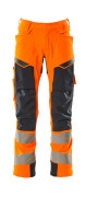 19079-511-14010 Broek met kniezakken - hi-vis oranje/donkermarine