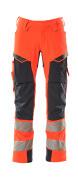 19079-511-14010 Broek met spijkerzakken - hi-vis oranje/donkermarine