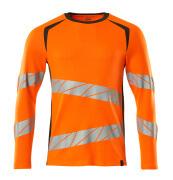 19081-771-1418 T-shirt, met lange mouwen - hi-vis oranje/donkerantraciet