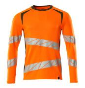 19081-771-1433 T-shirt, met lange mouwen - hi-vis oranje/mosgroen