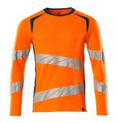 19081-771-1444 T-shirt, met lange mouwen - hi-vis oranje/donkerpetrol