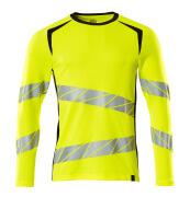 19081-771-1709 T-shirt, met lange mouwen - hi-vis geel/zwart