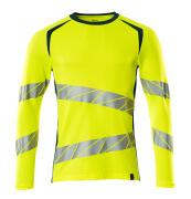 19081-771-1744 T-shirt, met lange mouwen - hi-vis geel/donkerpetrol