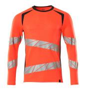 19081-771-22210 T-shirt, met lange mouwen - hi-vis rood/donkermarine