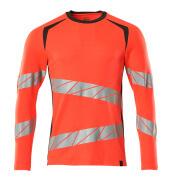 19081-771-22218 T-shirt, met lange mouwen - hi-vis rood/donkerantraciet