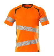 19082-771-1433 T-shirt - hi-vis oranje/mosgroen