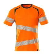 19082-771-1444 T-shirt - hi-vis oranje/donkerpetrol