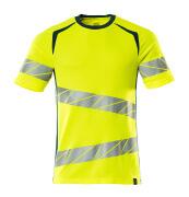 19082-771-1744 T-shirt - hi-vis geel/donkerpetrol